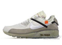 Кроссовки мужские Off White X Nike Air Max 90 White