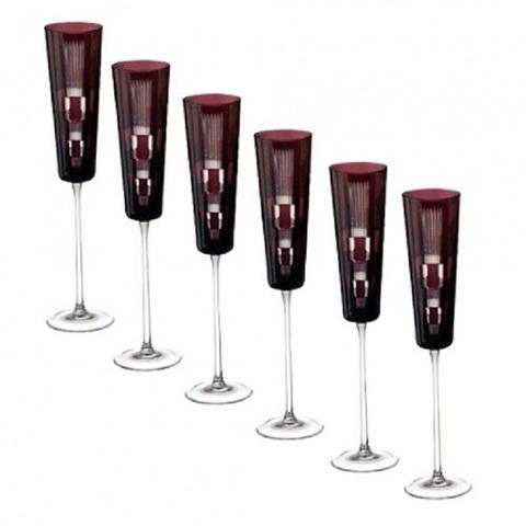 Набор из 6-х фужеров для шампанского Champagne 110 мл, артикул 65094. Серия Retro Amethyst