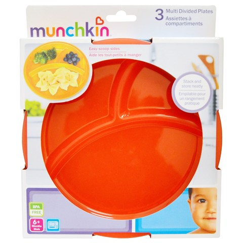 Munchkin, Тарелки с делениями, Упаковка из 3 штук