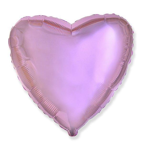 Фольгированный шар Сердце Розовый 18