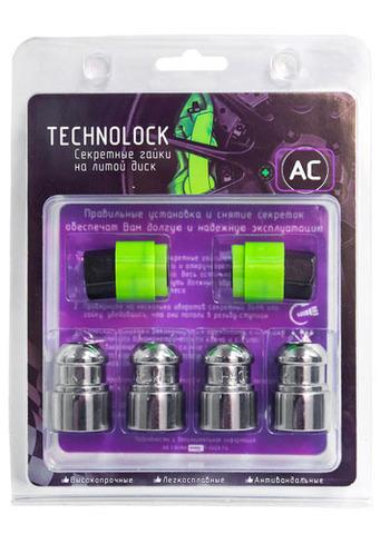 Готовый набор из колёсных гаек М12x1.5 и комплекта секреткок TECHNOLOCK AC
