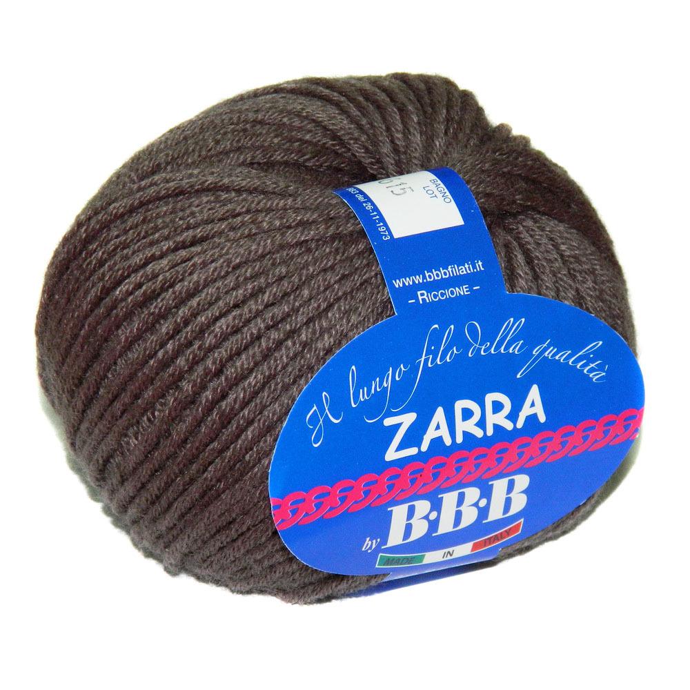 Пряжа BBB Filati Zarra 0017 коричневый