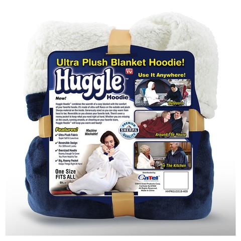 Плед Huggle с капюшоном Ultra Plush Blanket Hoodie