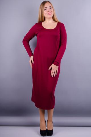 Мирослава француз. Платье больших размеров. Бордо.