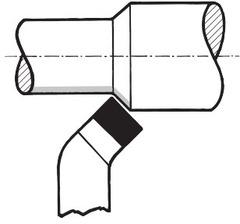 Токарный резец левый соотв. DIN 4972 (ISO 2) P20/K25