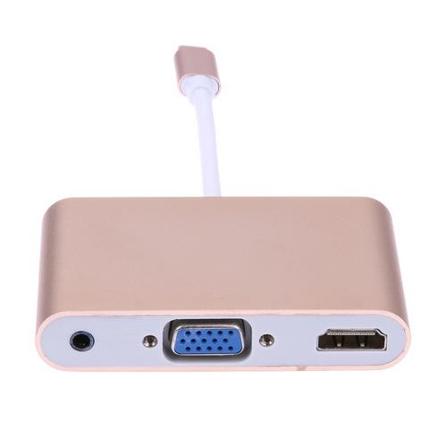 Переходник для Macbook - Type C / HDMI + VGA + 3.5