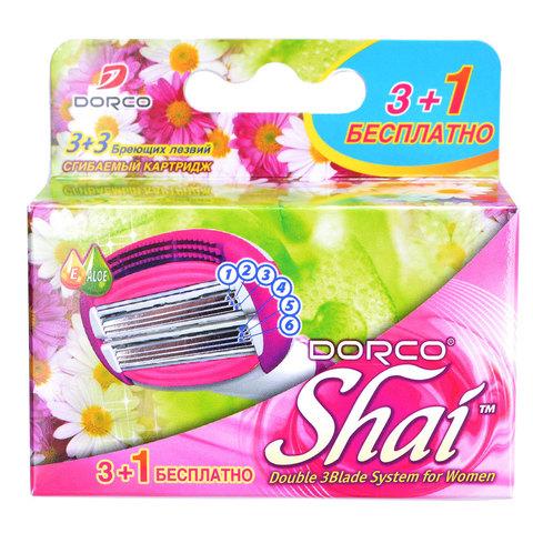 Dorco Shai Sweetie Сменные кассеты для бритья женские с 6 лезвиями 4ш