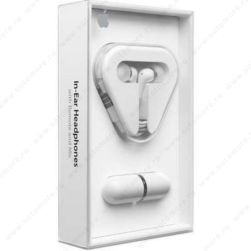 Наушники-капельки для iPad/ iPhone/ iPod/ Samsung с регулировкой громкости в коробке