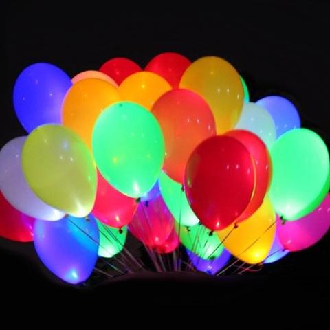 Светящиеся воздушные шары премиум с выключателем