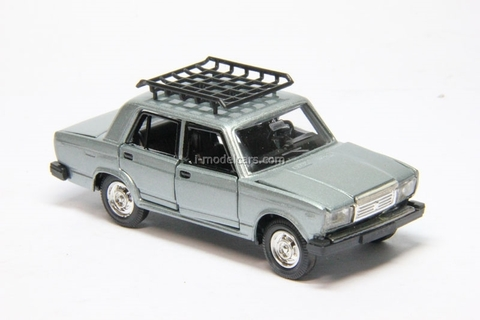 VAZ-2107 Lada with roof rack silvery metallic Agat Mossar Tantal 1:43