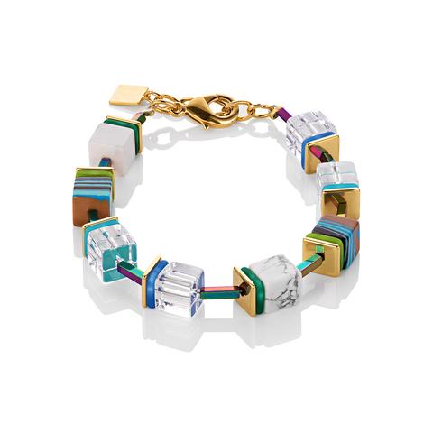 Браслет Coeur de Lion 4798/30-0705 цвет мультиколор, прозрачный, белый, полосатый