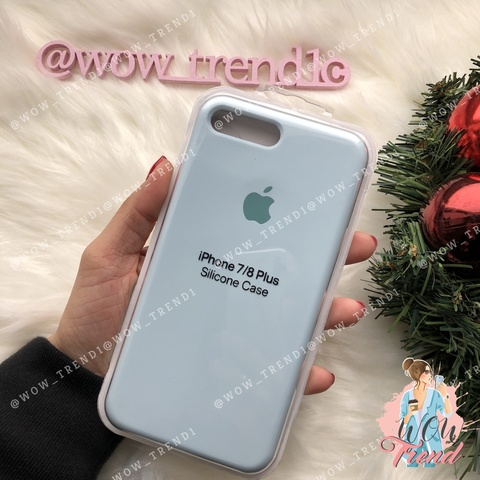 Чехол iPhone 7+/8+ Silicone Case /sky blue/ светло-голубой 1:1
