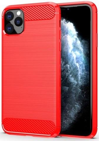Чехол iPhone 11 Pro Max цвет Red (красный), серия Carbon, Caseport