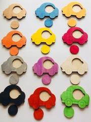 Вкладыши Цветные машинки, Сенсорика