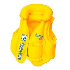Жилет плавательный надувной с подголовником 51х46см 32034