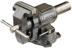 ЗУБР ЭКСПЕРТ-3D, 100 мм, многофункциональные слесарные тиски с поворотом в двух плоскостях на 360°