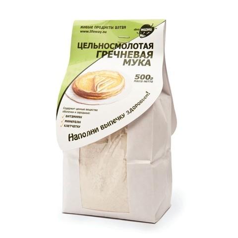 Мука гречневая цельносмолотая, 500 гр. (Образ жизни)