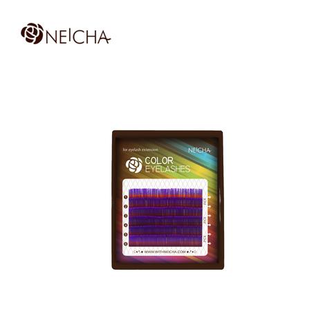 Ресницы NEICHA нейша цветные 6 линий MIX фиолетовый