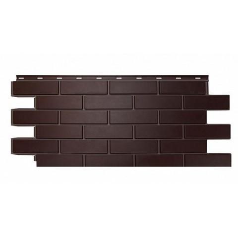 Фасадные панели (Цокольный Сайдинг) Nordside (Нордсайд) Гладкий Кирпич Темно-коричневый