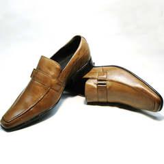Модные мужские туфли под джинсы Mariner 12211 Light Brown.