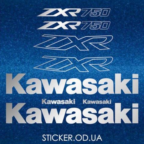 Набор виниловых наклеек на мотоцикл Kawasaki ZXR 750 1993-1995