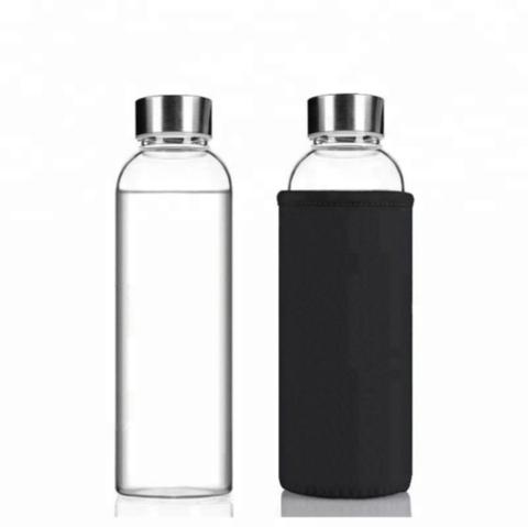 Бутылка из боросиликатного стекла 0,75 мл.в черном чехле