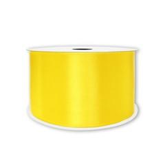 Лента атласная Желтый, 38 мм*22,85 м.