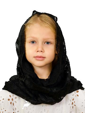 Снуд детский черный гипюр