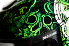 Мотошлем - ICON AIRMADA BRITTON (черно-зеленый)