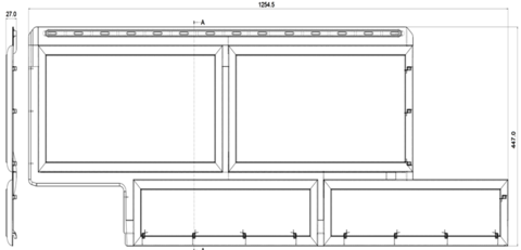 Фасадная панель Альта Профиль Камень флорентийский бежевый 1250х450 мм
