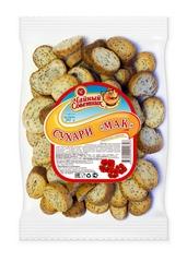 """Сухарики """"Алтайские сухарики"""" пшеничные сдобные с маком 250г"""