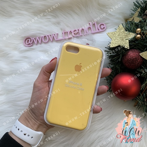 Чехол iPhone 7/8 Silicone Case /yellow/ желтый 1:1