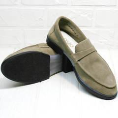 Весенние туфли лоферы женские Osso 2668 Beige.