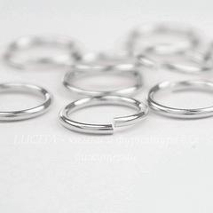 Колечко одинарное TierraCast 9,7х1 мм (цвет-серебро), 10 штук