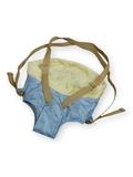 Рюкзак-кенгуру - Голубой / кремовый. Одежда для кукол, пупсов и мягких игрушек.
