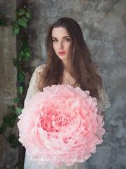 Ростовые цветы - пион (декорация цветок)