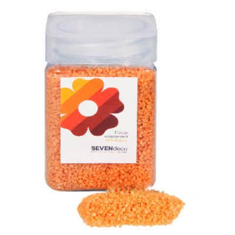 Песок кварцевый Оранжевый 1-2 мм