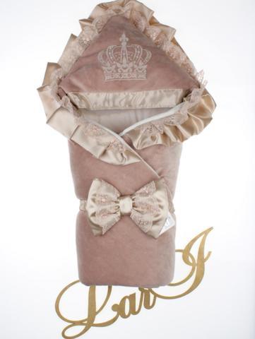 Велюровый конверт Одеяло Очарование (молочный шоколад)