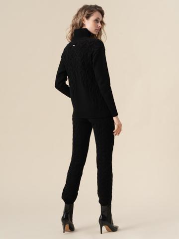 Женские брюки черного цвета из 100% кашемира - фото 5