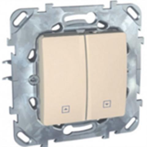Выключатель для жалюзи с фиксацией. Цвет Бежевый. Schneider electric Unica. MGU5.208.25ZD