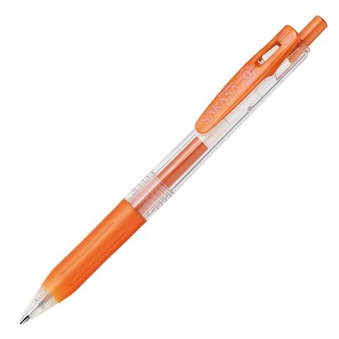Ручка гелевая Zebra Sarasa Clip Metallic Color (блестящая оранжевая / Shiny Orange 1,0 мм)