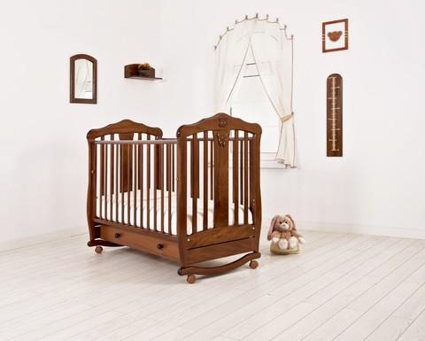 """Кровать детская К-2002-28 """"Доминик"""" (орех)"""
