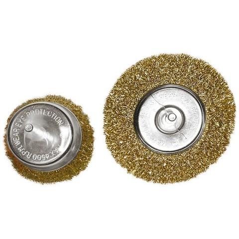 Набор щеток для дрели, 2 шт, 1 плоская, 100 мм, 1