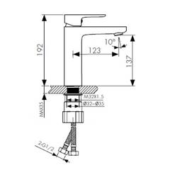 Смеситель KAISER Sofia 04011 для раковины схема