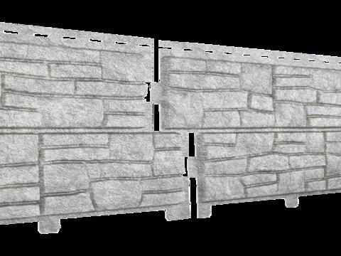 Сайдинг Стоун Хаус сланец светло-серый 2000х225 мм