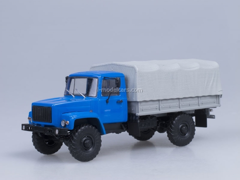 GAZ-3308 board with awning 4x4 engine ZMZ-513 blue AutoHistory 1:43