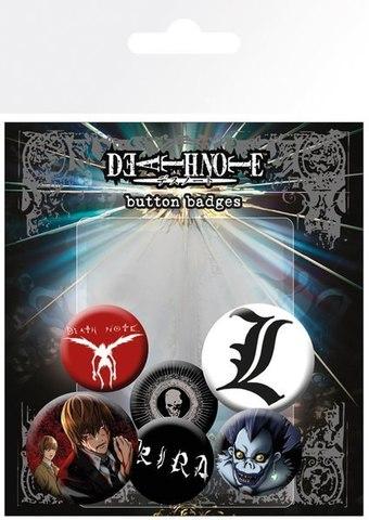 Набор значков Death Note