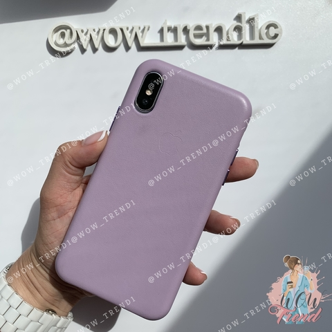 Чехол iPhone XR good Leather Case /lilac/