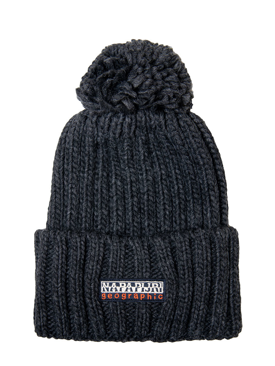 Napapijri шапка Fea темно-серый меланж - Фото 1