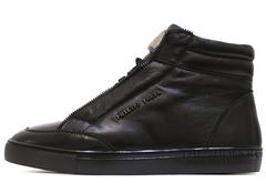 Кеды Мужские Philipp Plein Hi-Top Zip Classic Leather (с Мехом)